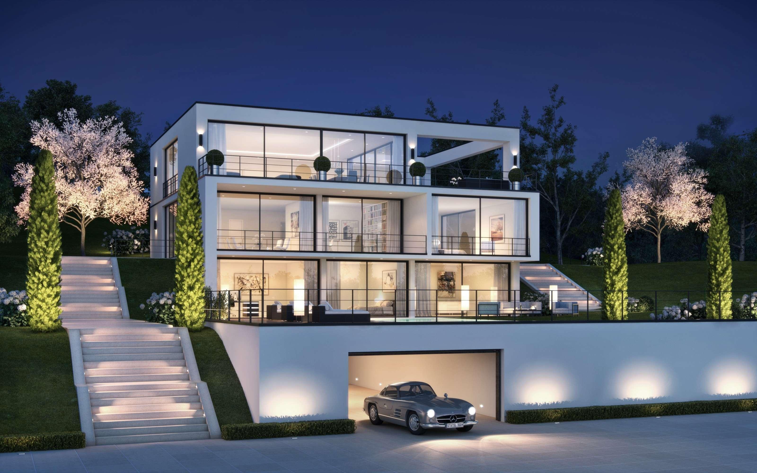 villa starnberg 3d visualisierung m nchen rendeffect gmbh. Black Bedroom Furniture Sets. Home Design Ideas