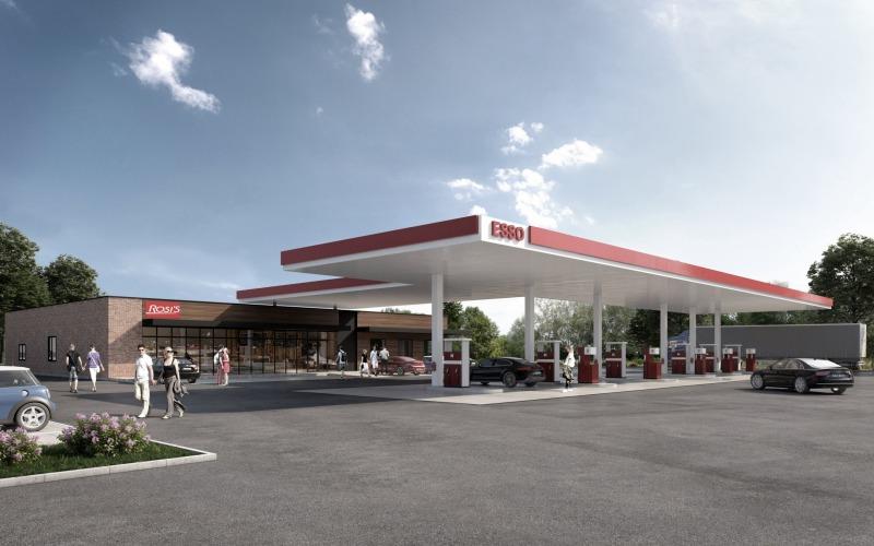 Visualisierung ESSO Tankstelle